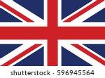 flag of the united kingdom | Shutterstock .eps vector #596945564