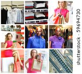 collage made with shopping... | Shutterstock . vector #59694730