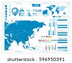 asia map and infograpchic... | Shutterstock .eps vector #596950391