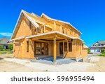 new residential home under... | Shutterstock . vector #596955494