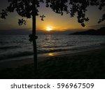 sunset view at beach | Shutterstock . vector #596967509