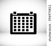 calendar icon  vector best flat ... | Shutterstock .eps vector #596974811