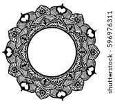 mandalas for coloring book.... | Shutterstock .eps vector #596976311