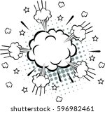 comic speech bubbles   vector... | Shutterstock .eps vector #596982461