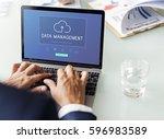 digital data is an online... | Shutterstock . vector #596983589