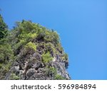 moutain and blue sky | Shutterstock . vector #596984894