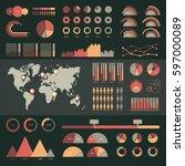 world map infographic. vector... | Shutterstock .eps vector #597000089