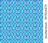mosaic vector seamless pattern. ... | Shutterstock .eps vector #597014375
