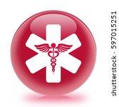 medical symbol icon. internet... | Shutterstock . vector #597015251
