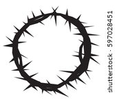 crown of thorns | Shutterstock .eps vector #597028451