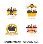 world consumer rights day 15... | Shutterstock .eps vector #597039461