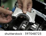 removing the inspection engine | Shutterstock . vector #597048725