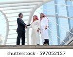 handsome arab businessman man... | Shutterstock . vector #597052127