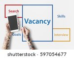 recruitment jobs career hiring...   Shutterstock . vector #597054677