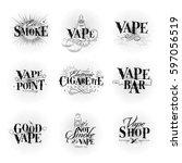 vape labels in vintage style... | Shutterstock .eps vector #597056519
