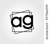 ag lowercase initials square...   Shutterstock .eps vector #597066539