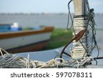 bow  and anchor ropes | Shutterstock . vector #597078311