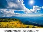 fresh air and sunlight | Shutterstock . vector #597083279