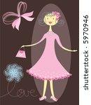 pretty girl in pink  raster  | Shutterstock . vector #5970946