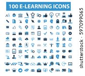 learning icons | Shutterstock .eps vector #597099065