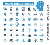 marketing strategy icons | Shutterstock .eps vector #597104195