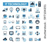 it technology icons | Shutterstock .eps vector #597104351
