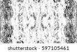 grunge black and white urban... | Shutterstock .eps vector #597105461