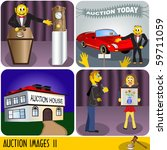 illustration of four auction... | Shutterstock .eps vector #59711059