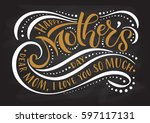 happy mother's day text as... | Shutterstock .eps vector #597117131