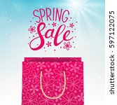 spring sale concept for your... | Shutterstock .eps vector #597122075