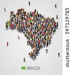 large group of people in form...   Shutterstock .eps vector #597129785