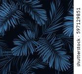 seamless vector indigo blue... | Shutterstock .eps vector #597129851