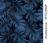indigo vector seamless pattern... | Shutterstock .eps vector #597129869