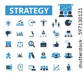 strategy icons | Shutterstock .eps vector #597130121