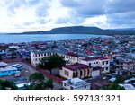 view over the bay of baracoa ... | Shutterstock . vector #597131321