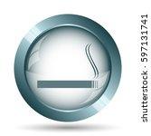 cigarette icon. internet button ... | Shutterstock . vector #597131741