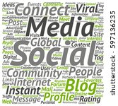 concept or conceptual social... | Shutterstock . vector #597136235