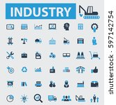 industry icons  | Shutterstock .eps vector #597142754