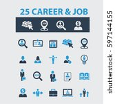 career job icons  | Shutterstock .eps vector #597144155