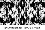 grunge black and white urban... | Shutterstock .eps vector #597147485