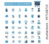 research development icons  | Shutterstock .eps vector #597148715
