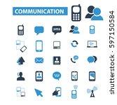 communication icons   Shutterstock .eps vector #597150584