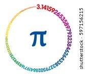 hundred digits of number pi... | Shutterstock .eps vector #597156215