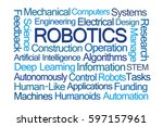 robotics word cloud on white... | Shutterstock . vector #597157961