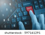 business and technology concept ... | Shutterstock . vector #597161291