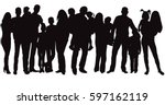 isolated  silhouette family ... | Shutterstock .eps vector #597162119