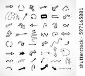 hand drawn arrows  vector set   Shutterstock .eps vector #597165881