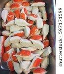 imitation crab stick | Shutterstock . vector #597171599