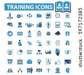 training icons  | Shutterstock .eps vector #597172385