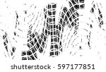 grunge black and white urban... | Shutterstock .eps vector #597177851